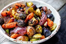 Balsamic Rosemary Roasted Seasonal Vegetables (GF, V, Vg)