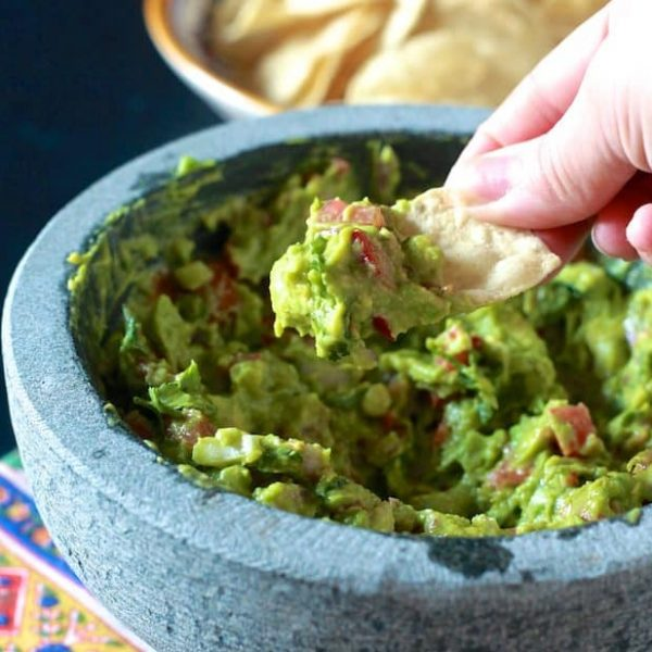 Homemade Guacamole and Chips (GF, V, Vg)