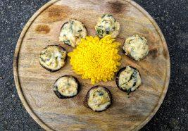 Photograph of Creamy Spinach Artichoke Stuffed Mushroom